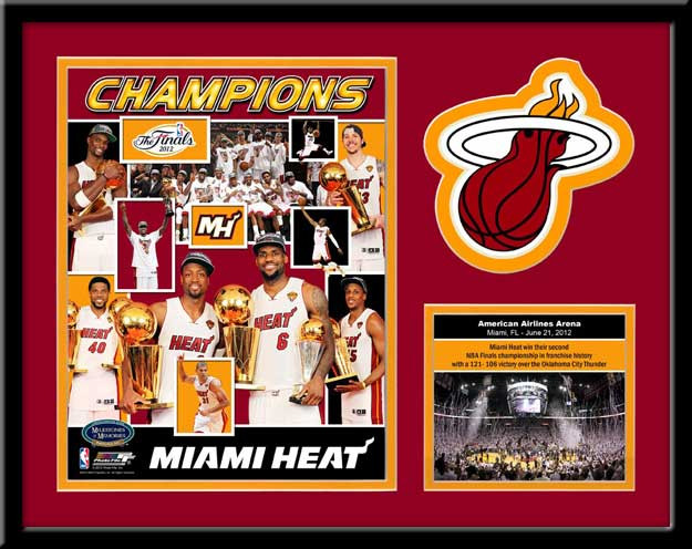 Miami Heat Memories and Milestones 2012 Championship Framed Picture