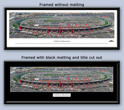NASCAR California Speedway Aerial Panoramic Photo Framed