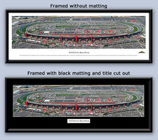 NASCAR California Speedway Aerial Panoramic Photo Framed
