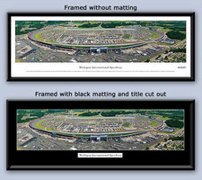 NASCAR Michigan International Speedway Aerial Framed Print