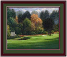 Augusta 11th Hole Framed Golf Print