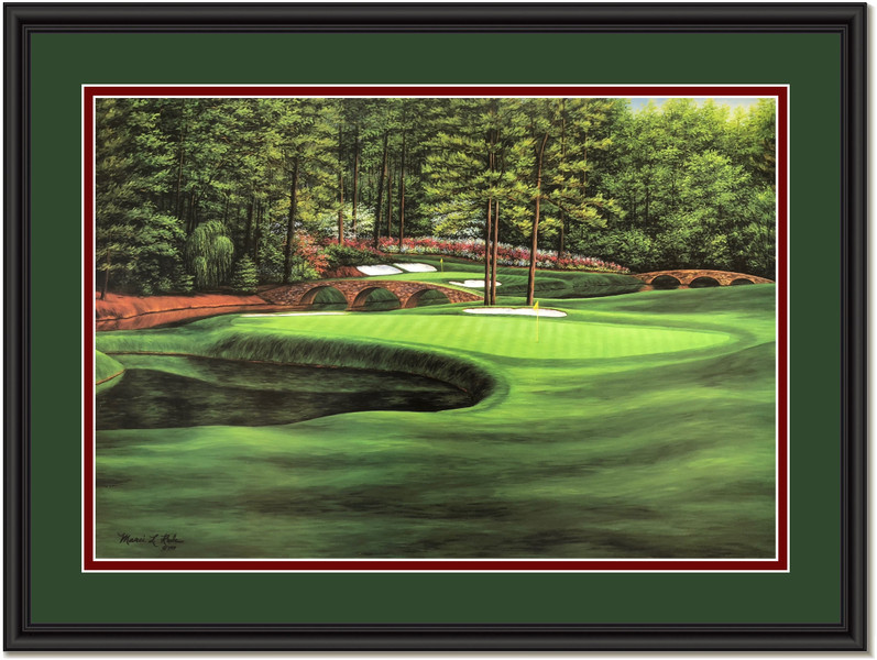 Augusta White Dogwood #11 Golf Art Print