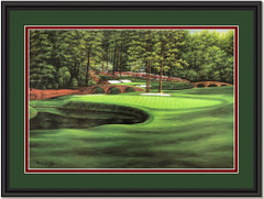 Augusta White Dogwood #11 Golf Art Print