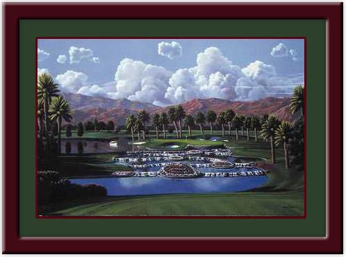 Desert Springs - 17th Hole Golf Print