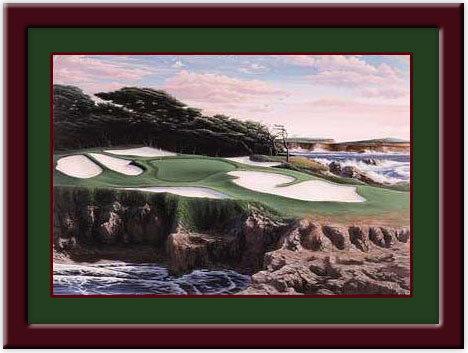 Cypress Point 15th Hole Golf Print