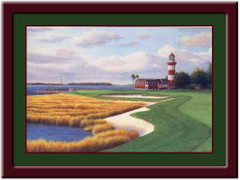 Harbor Town 18th Hole Golf Art Print