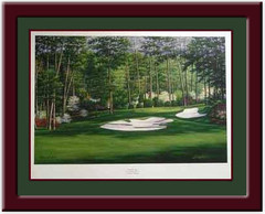 Augusta Camellia #10 Framed Golf Picture