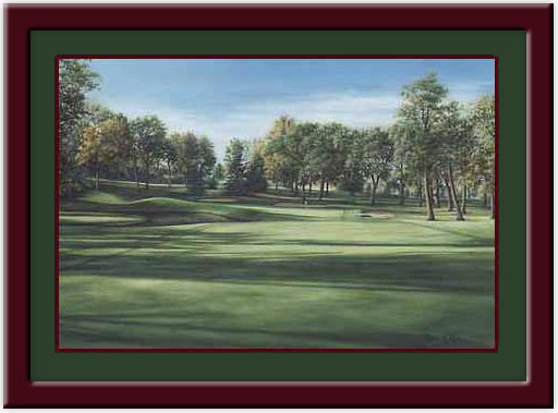 Hazeltine #6 Framed Golf Art Print