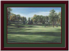 Hazeltine #6 Framed Golf Print