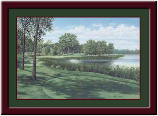Hazeltine #16 Framed Golf Print