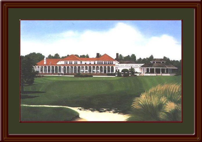 Pinehurst Country Club Golf Art Print