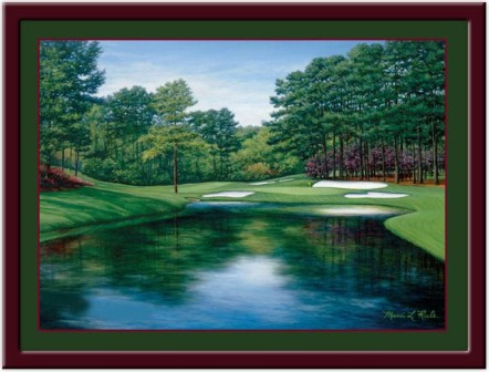 Augusta Redbud #16 Framed Golf Print