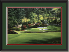 Augusta National Hole #12 Framed Golf Art