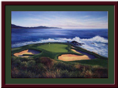 Pebble Beach 7th Hole Framed Golf Art Print