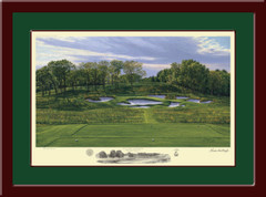 Bethpage State Park 17th Hole Framed Golf Print
