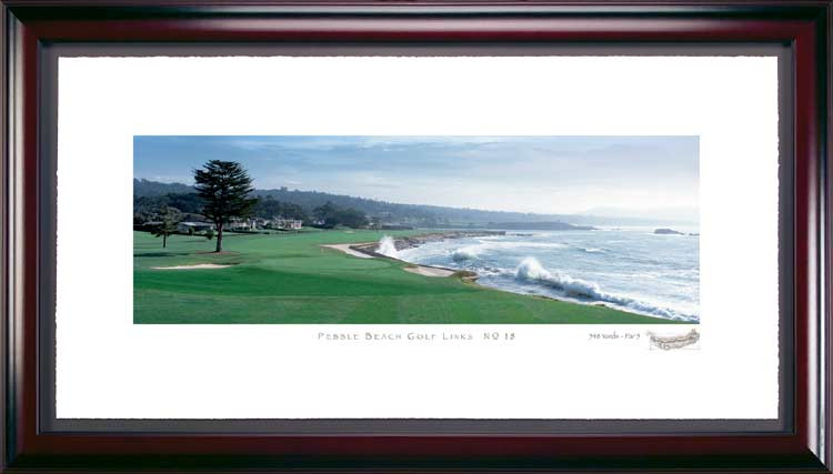 Pebble Beach 18th Hole Framed Golf Picture
