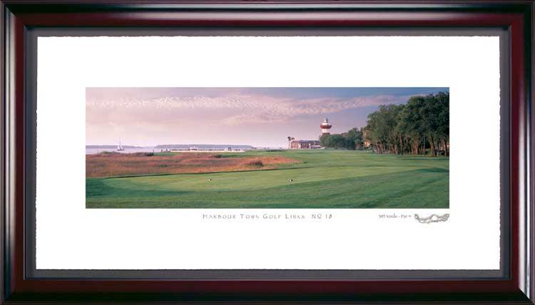Harbor Town 18th Hole Framed Golf Print