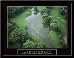 Achievement Motivational Golf Framed Poster