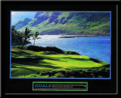 Goals Motivational Golf Framed Poster