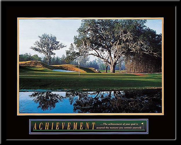 Achievement of Goals Motivational Golf Framed Poster