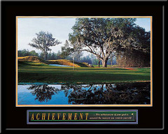 Achievement of Goals Motivational Golf Framed Poster