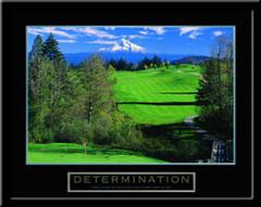 Determination Motivational Golf Framed Poster