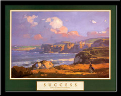 Success Motivational Golf Art Framed Poster