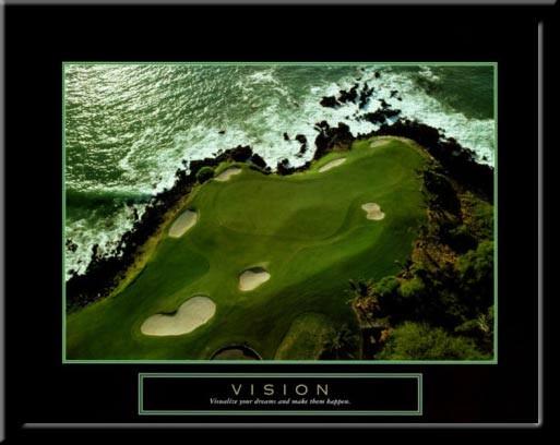 Vision Motivational Golf Framed Poster