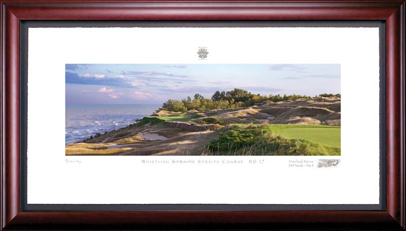 Whistling Straits 17th Hole Framed Golf Print