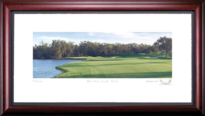 Bay Hill 6th Hole Framed Golf Print
