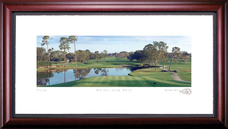 Bay Hill 17th Hole Framed Golf Picture