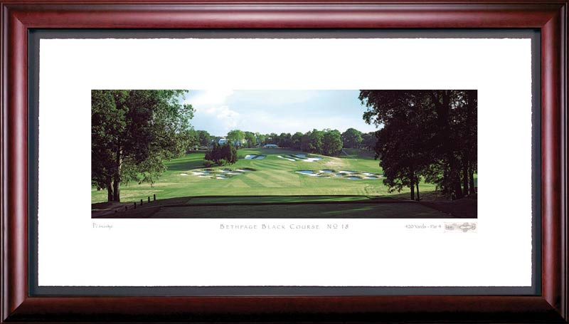 Bethpage 18th Hole Framed Golf Print