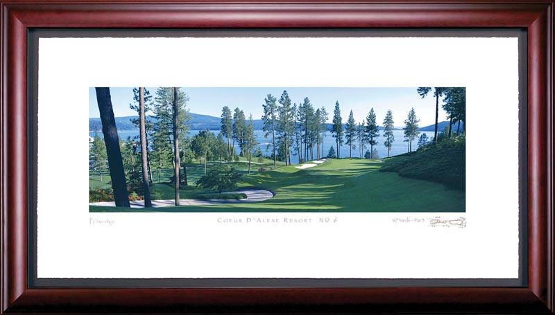 Coeur d'Alene 6th Hole Framed Golf Art Print