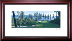 Coeur d'Alene 6th Hole Framed Golf Art Print