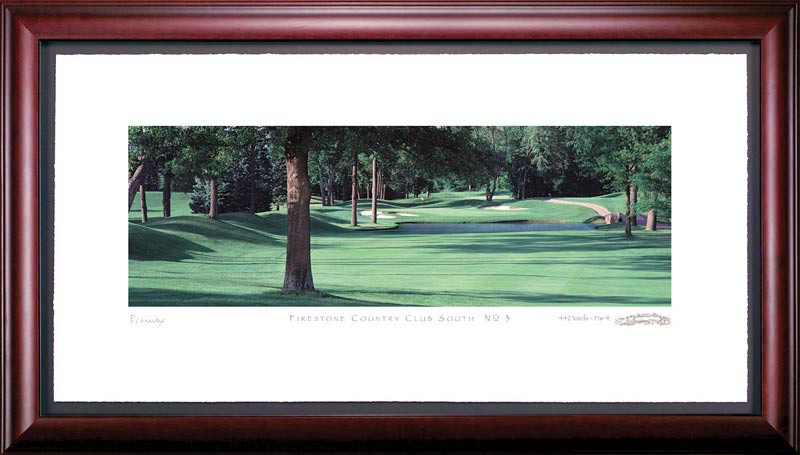 Firestone Country Club South 3rd Hole Framed Golf Art Print