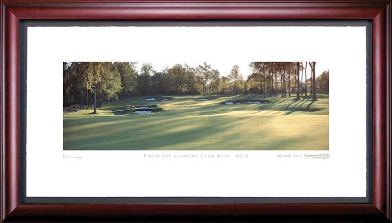 Firestone Country Club West 6th Hole Framed Golf Art Print