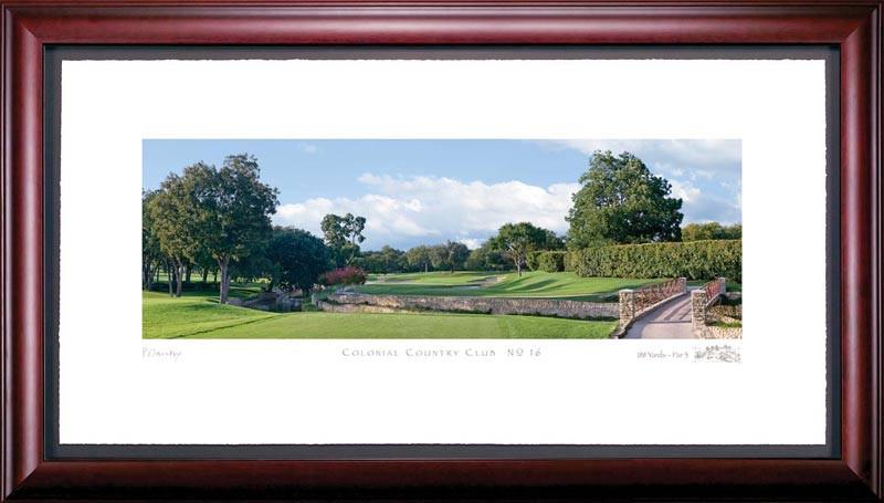 Colonial Country Club 16th Hole Framed Golf Art Print