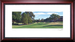 Colonial Country Club 18th Hole Framed Golf Art Print