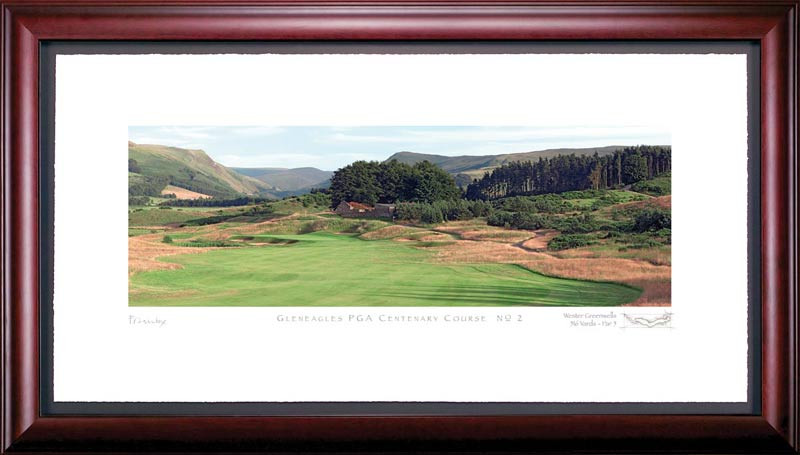 Gleneagles PGA 2nd Hole Framed Golf Art Print