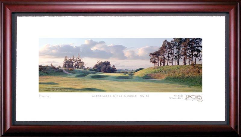 Gleneagles PGA 16th Hole Framed Golf Art Print
