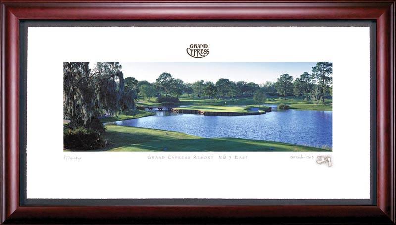 Grand Cypress 5th Hole Framed Golf Art Print