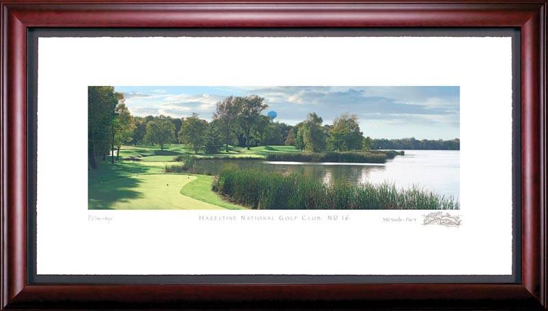 Hazeltine 16th Hole Framed Golf Art Print