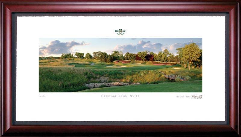 Heritage Club 13th Hole Framed Golf Art Print