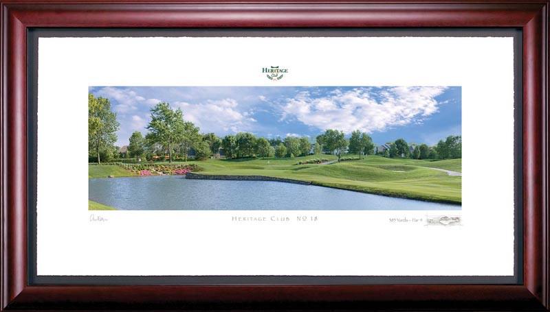 Heritage Club 18th Hole Framed Golf Art Print