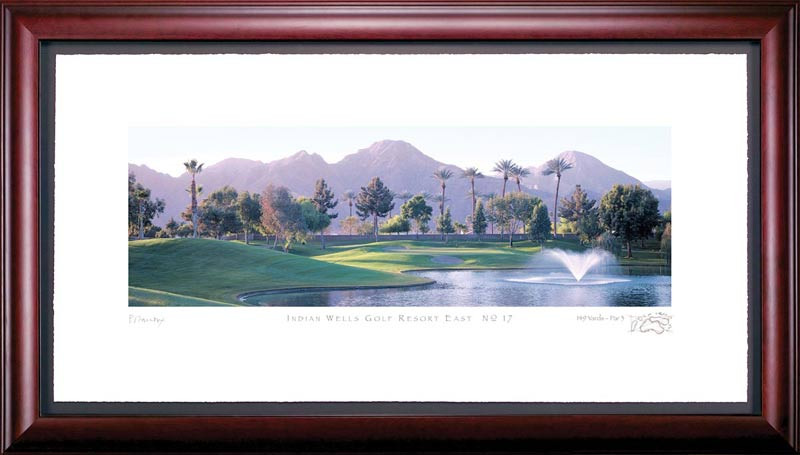 Indian Wells 17th Hole Framed Golf Art Print
