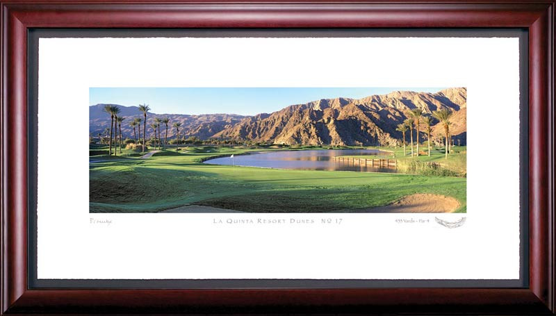 La Quinta 17th Hole Framed Golf Art Print