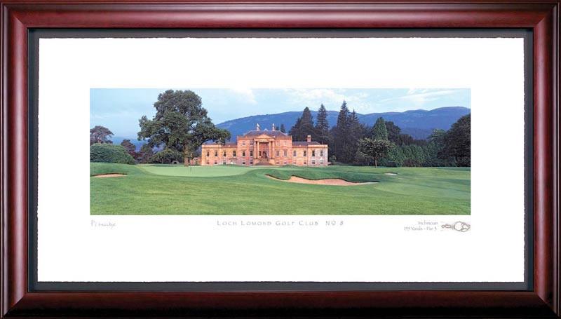 Loch Lomond 8th Hole Framed Golf Art Print