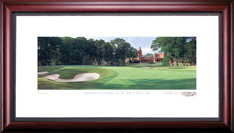 Medinah 18th Hole Framed Golf Art Print
