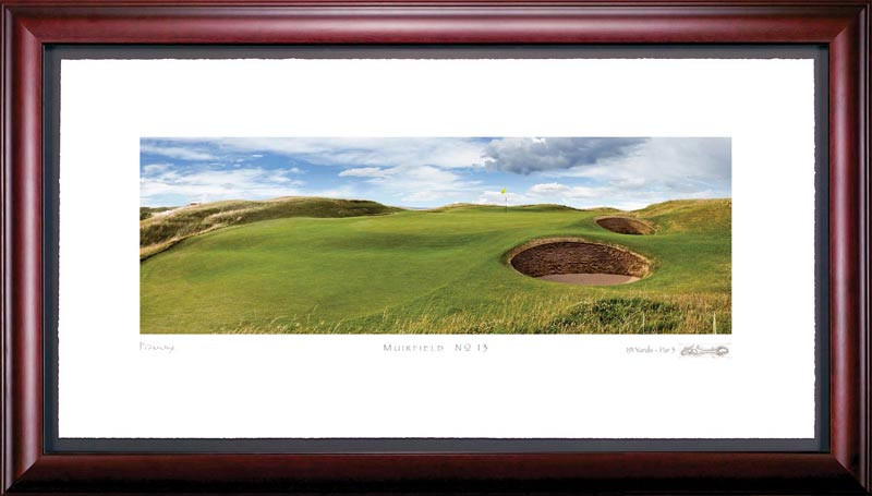 Muirfield 13th Hole Framed Golf Art Print