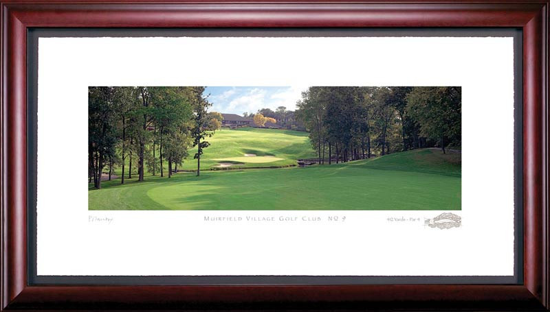 Muirfield Village 9th Hole Framed Golf Art Print
